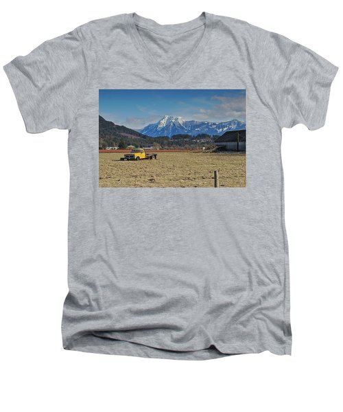Truck In Harison Mills Men's V-Neck T-Shirt