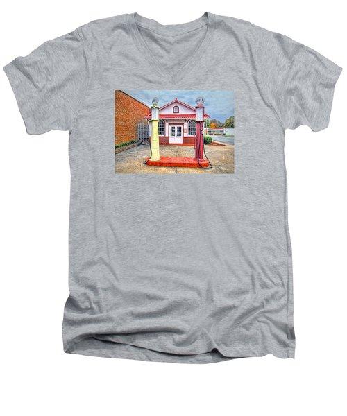 Trucking Museum Men's V-Neck T-Shirt by Marion Johnson