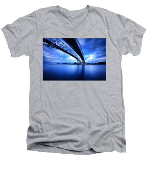 True Blue View Men's V-Neck T-Shirt