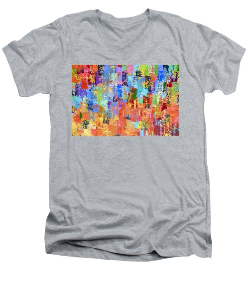 True Colours Men's V-Neck T-Shirt