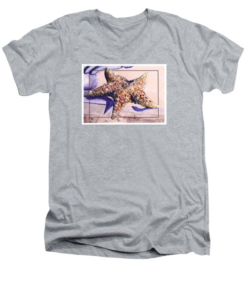 Trum L'oeil.star Fish Men's V-Neck T-Shirt