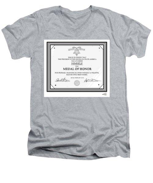 Trump Medal Of Honor Men's V-Neck T-Shirt