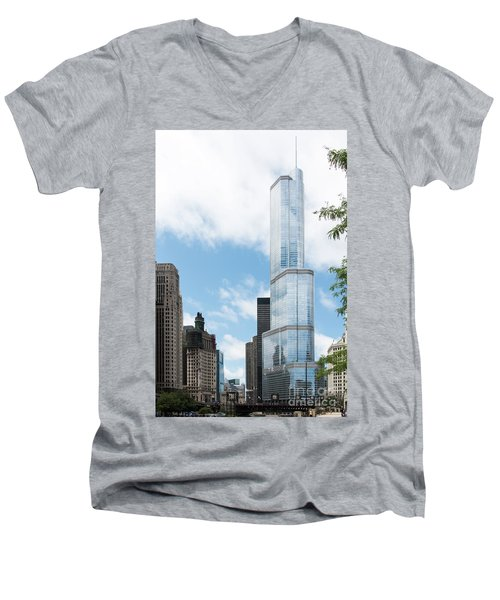 Trump Tower In Chicago Men's V-Neck T-Shirt