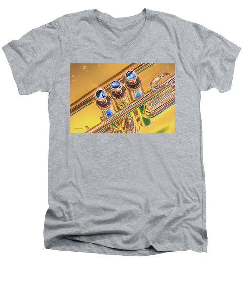 Trumpet Keys Men's V-Neck T-Shirt