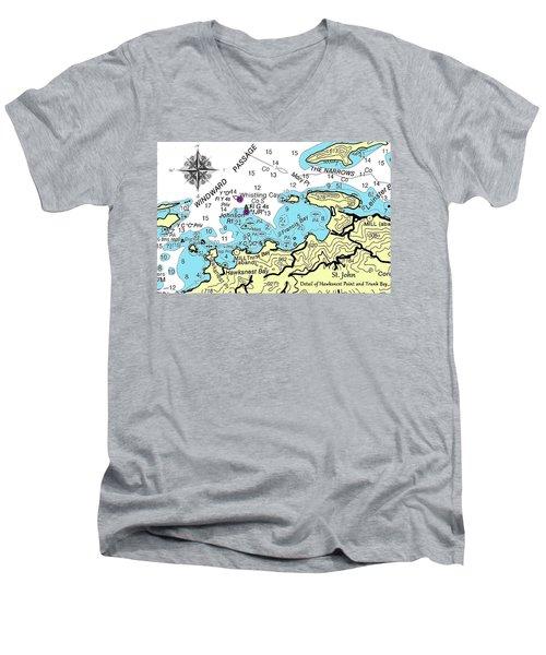 Trunk Bay, St. John Men's V-Neck T-Shirt
