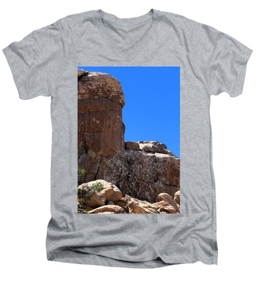 Men's V-Neck T-Shirt featuring the photograph Trunk Made Of Stone by Viktor Savchenko