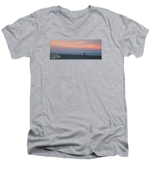 Men's V-Neck T-Shirt featuring the photograph Trust In Dreams... by Robert Banach