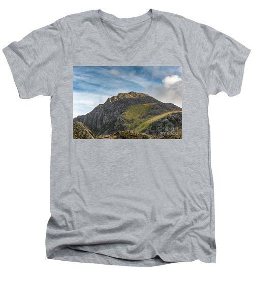 Men's V-Neck T-Shirt featuring the photograph Tryfan Snowdonia by Adrian Evans