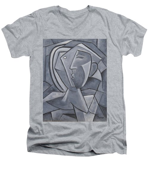 Tu Y Yo Men's V-Neck T-Shirt by Trish Toro