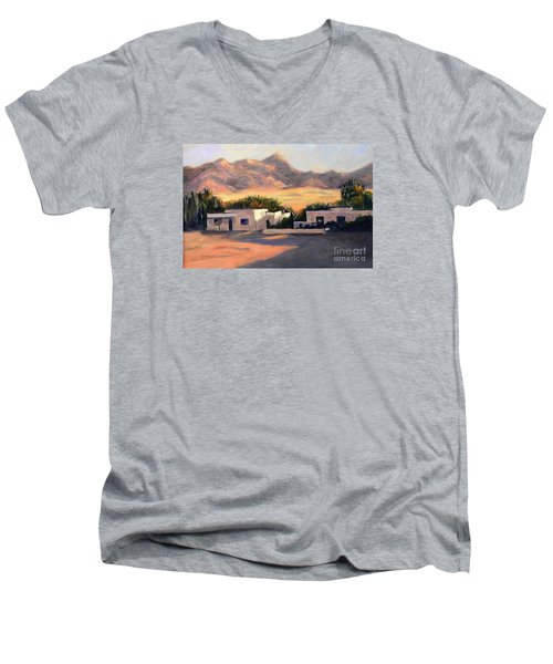 Men's V-Neck T-Shirt featuring the painting Tucson,az by Marcia Dutton