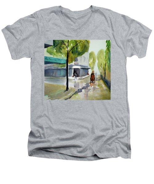 Tudo Street, Saigon11 Men's V-Neck T-Shirt by Tom Simmons