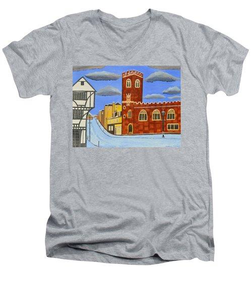 Tudor House In Exeter  Men's V-Neck T-Shirt