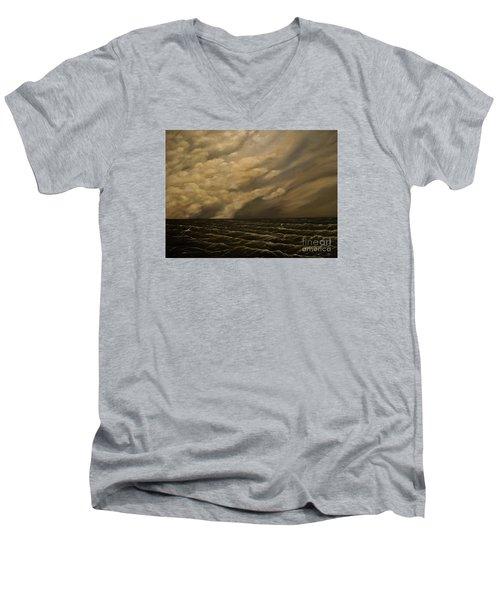 Tuesday Morning Men's V-Neck T-Shirt by John Stuart Webbstock