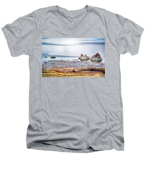 Tufa Formations At Mono Lake Men's V-Neck T-Shirt
