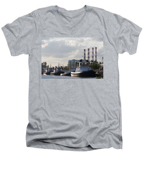 Tugs Men's V-Neck T-Shirt by Ed Gleichman