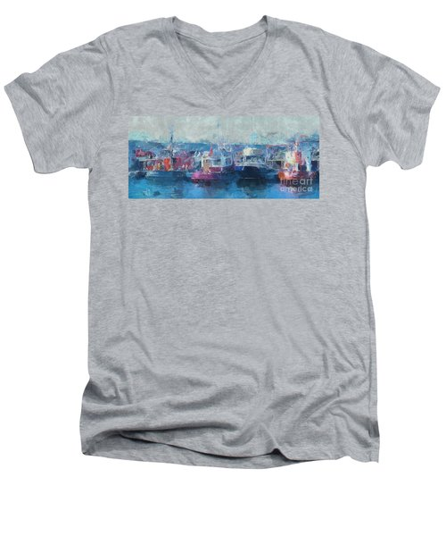 Tugs Together  Men's V-Neck T-Shirt
