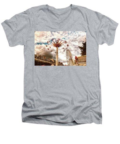 Tuilerie Garden Paris Swings Men's V-Neck T-Shirt