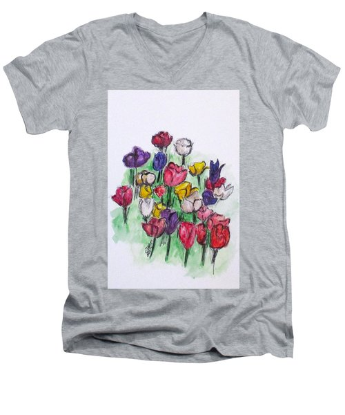 Tulip Bed Men's V-Neck T-Shirt