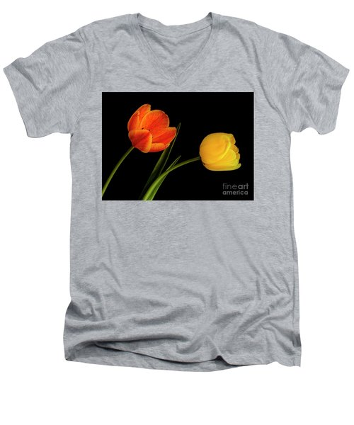 Tulip Pair Men's V-Neck T-Shirt