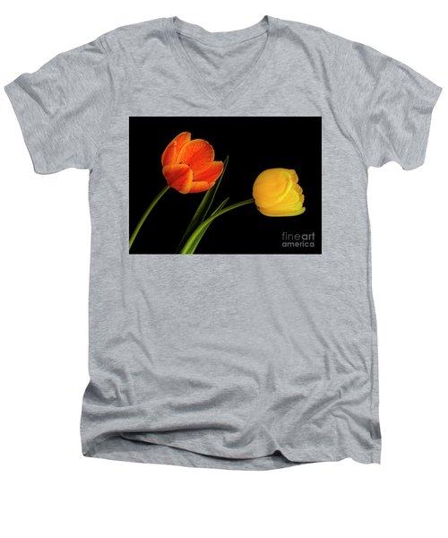Tulip Pair Men's V-Neck T-Shirt