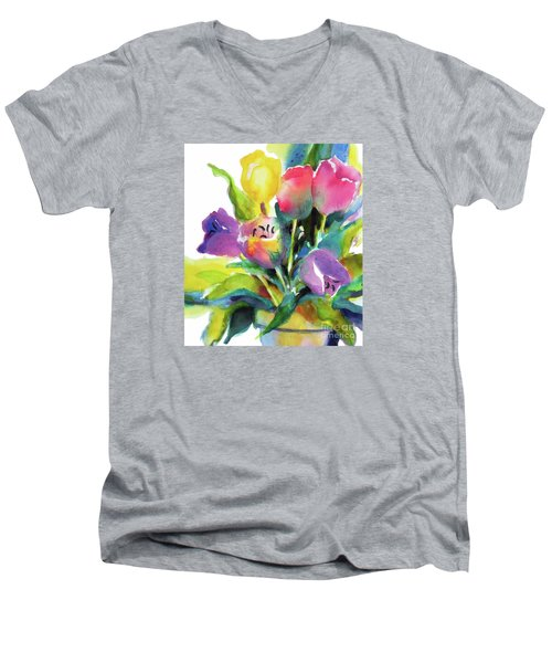 Tulip Pot Men's V-Neck T-Shirt