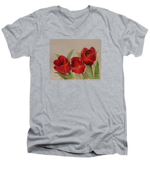 Tulip Trio Men's V-Neck T-Shirt