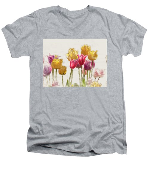 Tulipe Men's V-Neck T-Shirt
