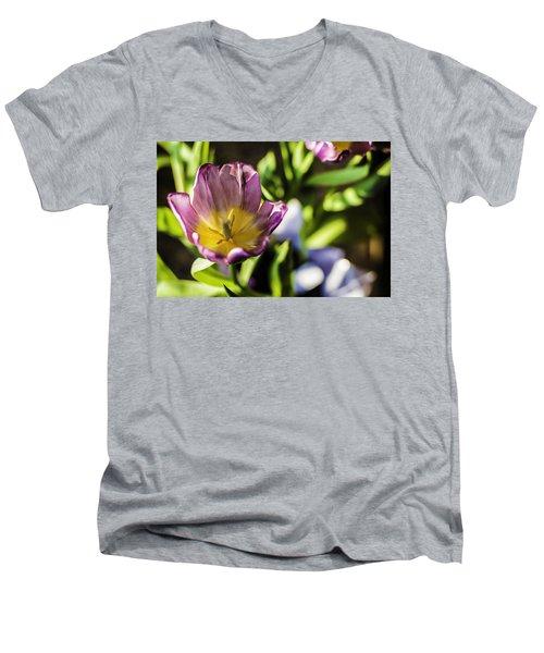 Tulips At The End Men's V-Neck T-Shirt