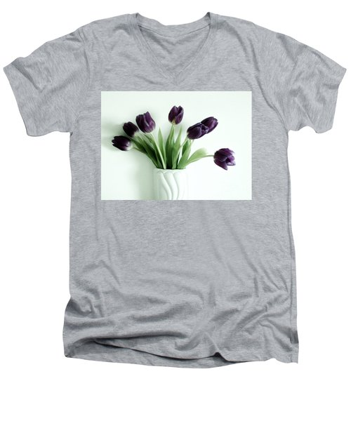 Tulips For You Men's V-Neck T-Shirt by Marsha Heiken