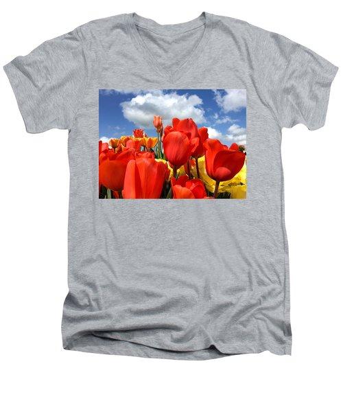 Tulips In The Sky Men's V-Neck T-Shirt