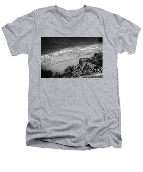 Tulum Beach Men's V-Neck T-Shirt by Ana Mireles