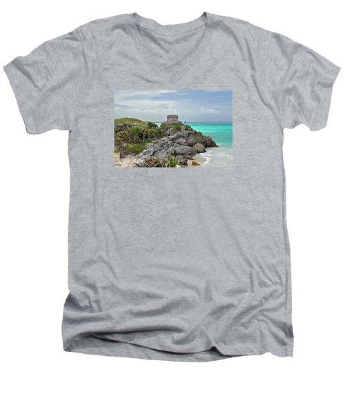 Tulum Mexico Men's V-Neck T-Shirt by Glenn Gordon
