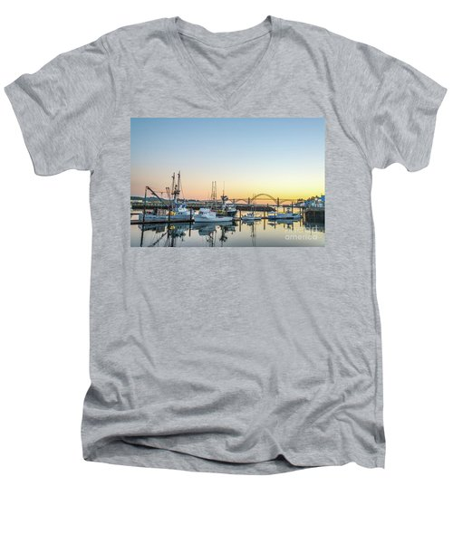 Tuna Boats Resting For The Night Men's V-Neck T-Shirt