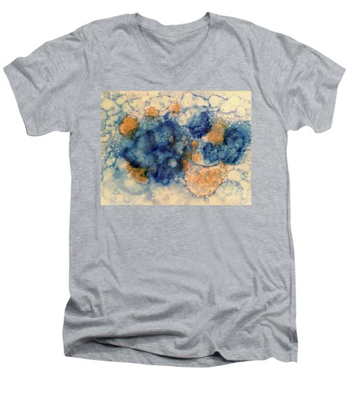 Men's V-Neck T-Shirt featuring the painting Tundra by Denise Tomasura