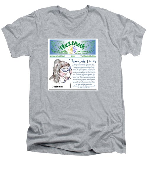 Real Fake News Spiritual Columnist 1 Men's V-Neck T-Shirt
