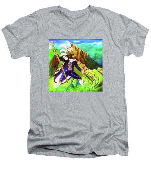 Tupac Amaru II Men's V-Neck T-Shirt by Talisa Hartley