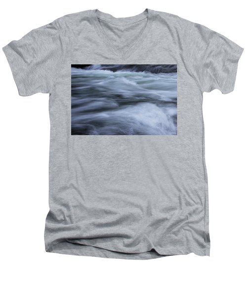 Men's V-Neck T-Shirt featuring the photograph Turbulence 2 by Mike Eingle
