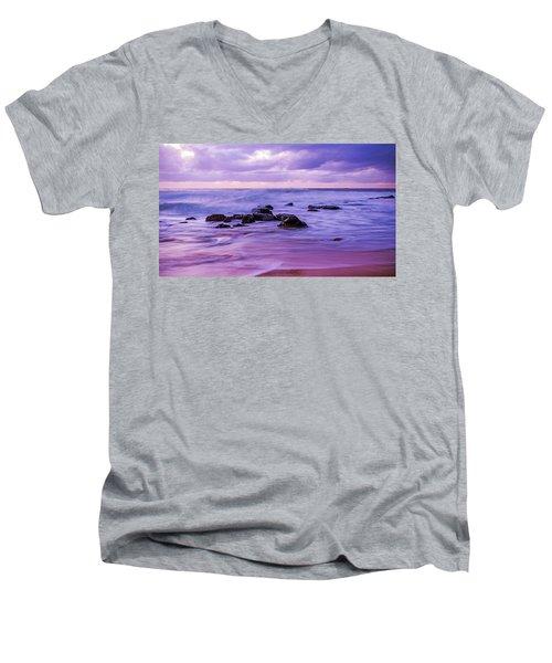 Turbulent Daybreak Seascape Men's V-Neck T-Shirt