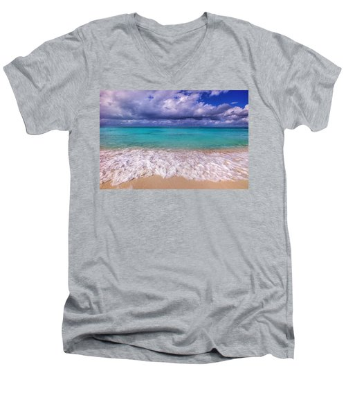 Turks And Caicos Beach Men's V-Neck T-Shirt