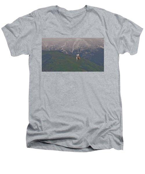 Turn And Burn Men's V-Neck T-Shirt
