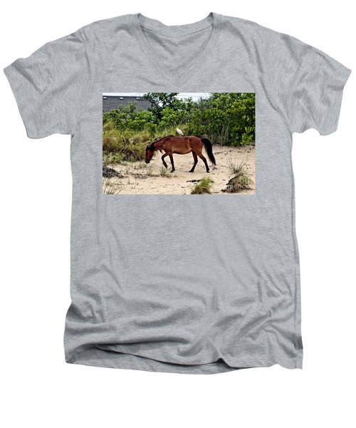 Turn Right At The Next Bush Men's V-Neck T-Shirt