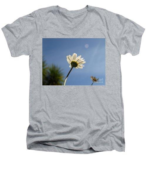 Turn To The Light Men's V-Neck T-Shirt by Richard Brookes