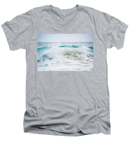 Turquoise Beauty Men's V-Neck T-Shirt by Shelby Young