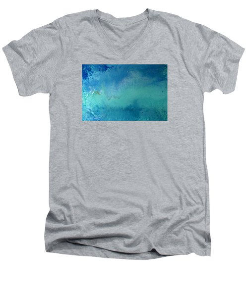 Turquoise Ocean Men's V-Neck T-Shirt