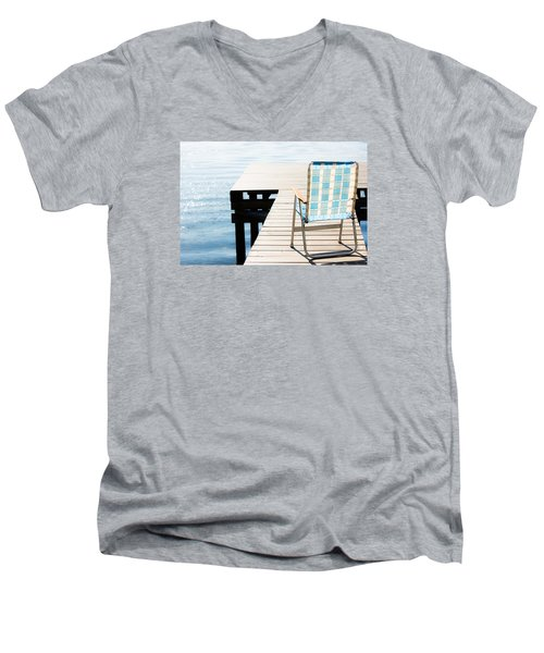 Turquoise Paradise Men's V-Neck T-Shirt