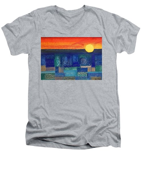 Turquoise Sunset Men's V-Neck T-Shirt