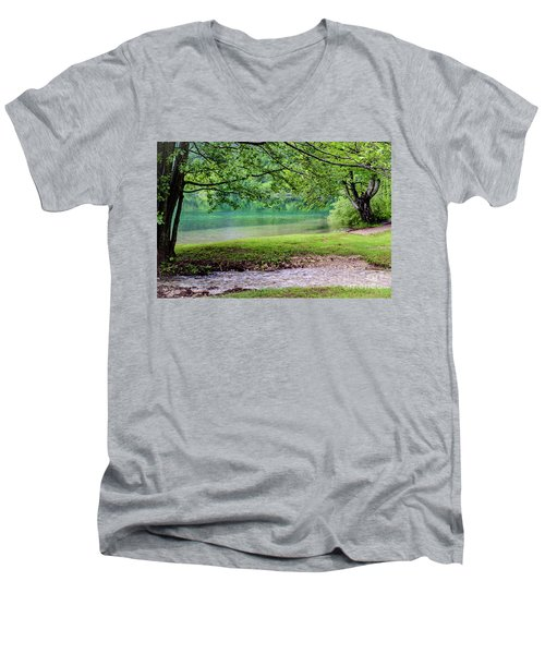 Turquoise Zen - Plitvice Lakes National Park, Croatia Men's V-Neck T-Shirt