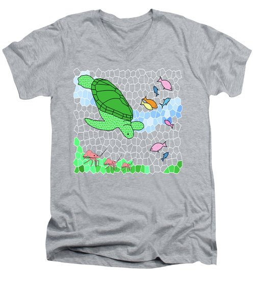 Turtle And Friends Men's V-Neck T-Shirt