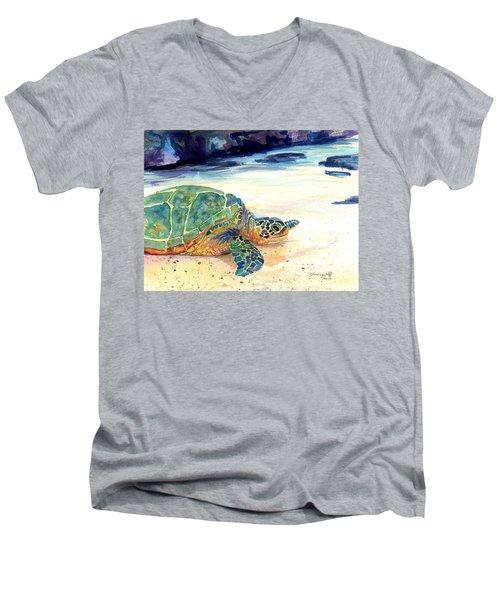 Turtle At Poipu Beach 5 Men's V-Neck T-Shirt