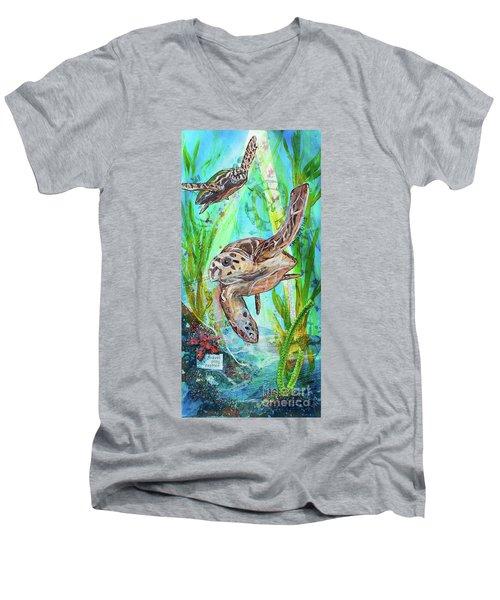 Turtle Cove Men's V-Neck T-Shirt